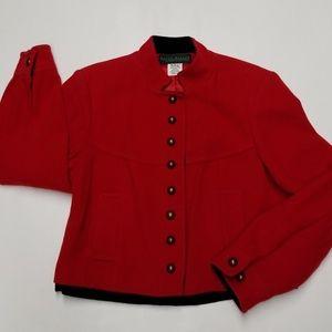 Harve Benard Red Pea Coat